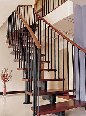 烟台钢木楼梯扶手