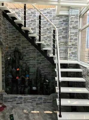 烟台室外钢木楼梯