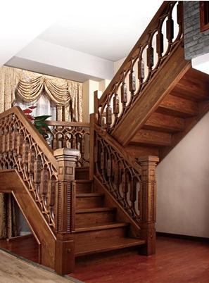 烟台中式家用实木楼梯