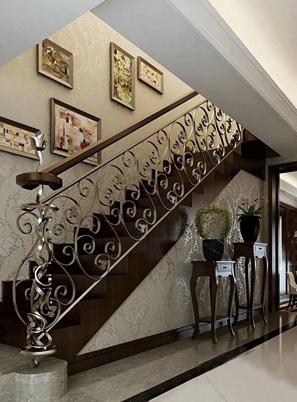 烟台欧式钢木旋转楼梯