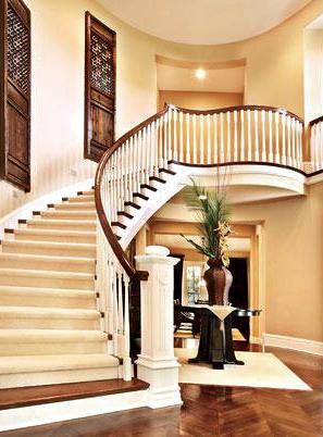 烟台欧式实木楼梯定做