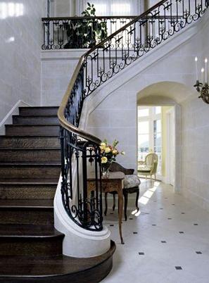 烟台美式实木楼梯定做