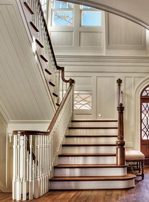 烟台美式实木楼梯安装