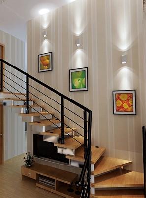烟台现代实木楼梯定做