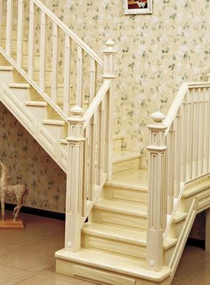 烟台田园系列实木楼梯制作