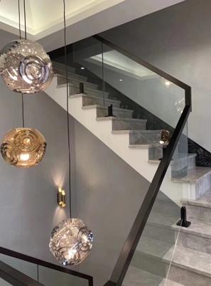 烟台钢木玻璃楼梯